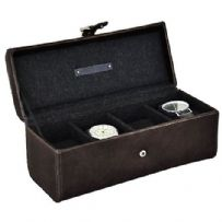 Jacob Jones 73817 Cambridge Collection 4pc Watch Box.